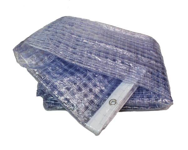 HE5530MA 大型カーテンレール用ビニールカーテン 0.3厚×2.0m(ハトメ)×2.0m 耐候 上面ハトメ 【ハイロジック】