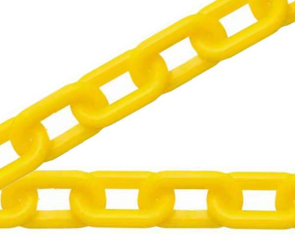 プラスチックチェーン #8×20m 黄色 入数1巻(約20m)【ハイロジック】