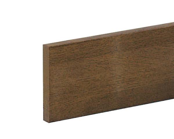手摺り用ベースプレート 100×15×4000ミリ ミディアムオーク 入数1個【ハイロジック】