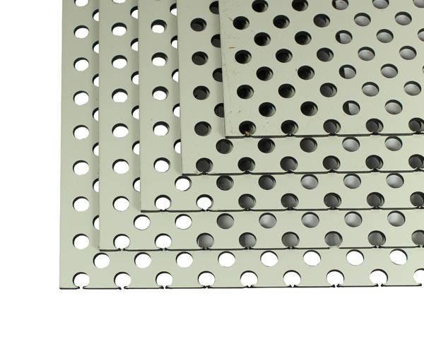 CG46P01 アルミ複合板 パンチング 3tx450x600 アイボリーホワイト 5枚組 【アルインコ】