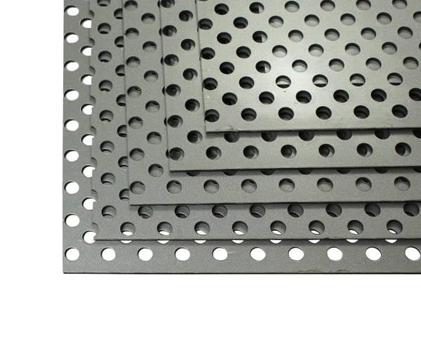 CG46P21 アルミ複合板 パンチング 3tx450x600 シルバー 5枚組 【アルインコ】