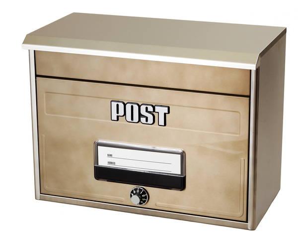 どでか郵便ポストCSP-8000Lシャイニーブラウンメールボックス本体サイズ:幅42×高さ31.5×奥行き22cm【ケイジーワイ工業】