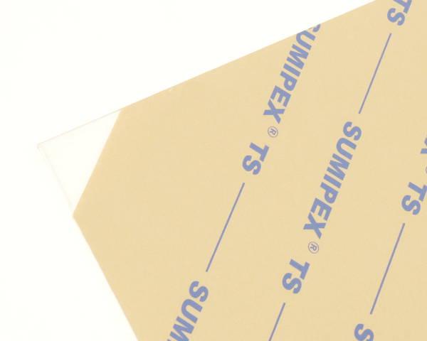 アクリル板 厚み調整材入 900×1400ミリ 透明 2枚 KAC9143-1S【光】