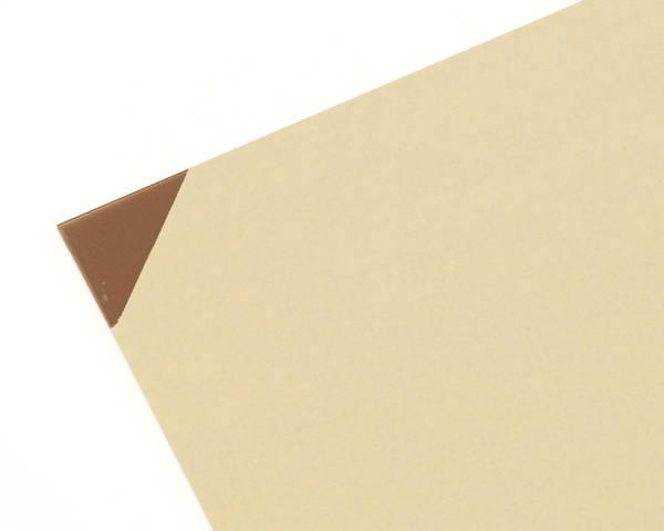 アクリル板 厚み調整材入 900×900ミリ Bスモーク 2枚 KAC9093-6S【光】