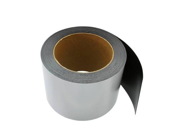 GM08-1004W ゴムマグネット 白 0.8ミリ×100ミリ×10m巻ホワイト【光】