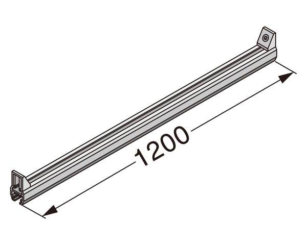 ランプ印ユニットシェルフ Cタイプ XL-US02-S004L-W【スガツネ工業】