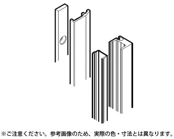 22151 ハワプロリノ プラス80 壁付仕様オプション 一覧 エンドプロファイル(3500mm)【スガツネ工業】