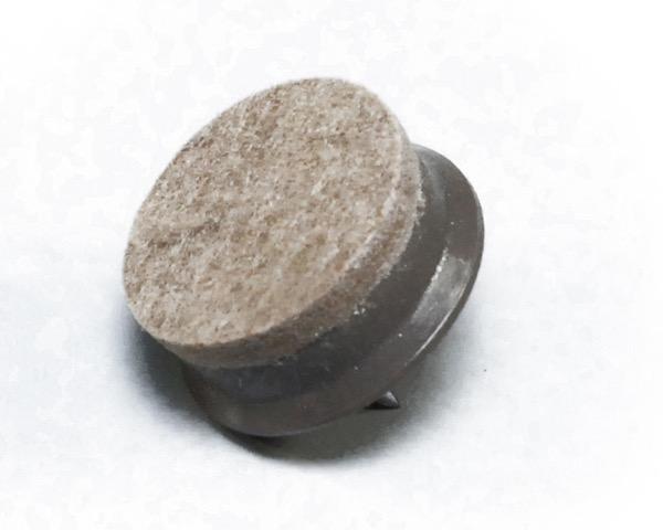 硬質フェルト(打込みタイプ) ブラウン 28mm丸 入数200
