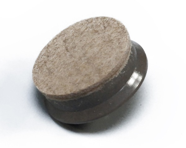 硬質フェルト(打込みタイプ) ブラウン 32mm丸 入数200