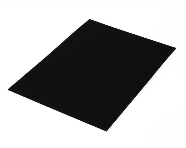 硬質フェルト(粘着タイプ) 黒 280×200mm 入数100