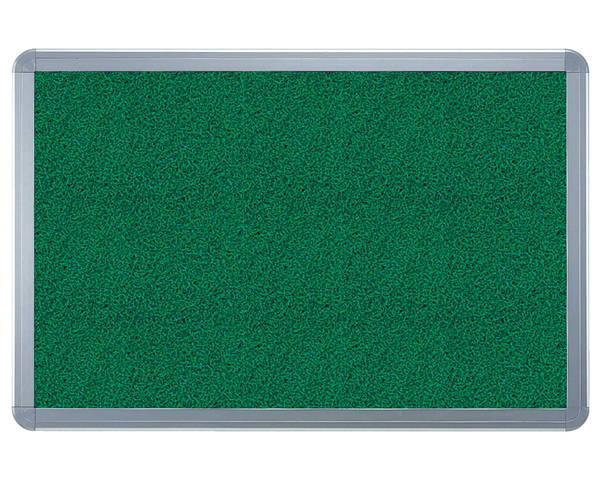 アルミ掲示板(フレーム取外し型) ラシャグリーン貼シルバー SMS-1062【神栄ホームクリエイト】※返品不可