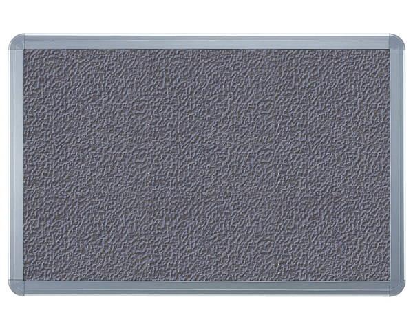 アルミ掲示板(フレーム取外し型) レザーグレー貼シルバー SMS-1062【神栄ホームクリエイト】※返品不可