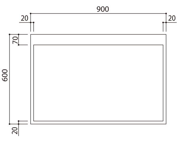 館内案内板 無地横型 SK-404-1Y【神栄ホームクリエイト】※返品不可