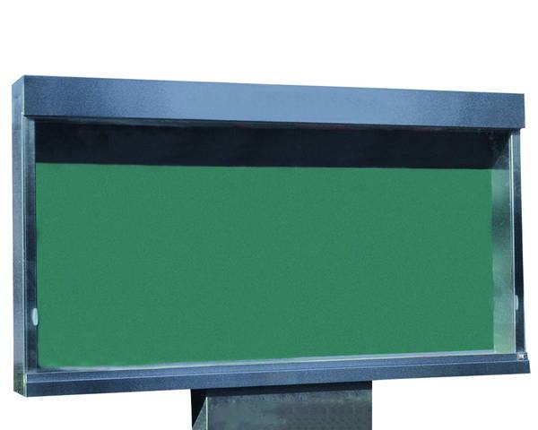 ステンレス屋外掲示板(1本脚型)シリンダー錠式 蛍光灯付 SK-1800-1【神栄ホームクリエイト】※返品不可