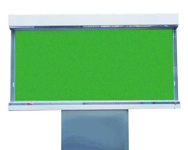 ステンレス屋外掲示板(1本脚型)シリンダー錠式 LED照明付 SK-1800-1G-LED【神栄ホームクリエイト】※返品不可