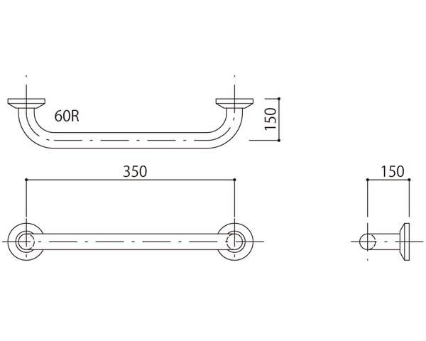 補助手摺(樹脂被覆付) 標準取付タイプ(B・D・G)グリーン SK-290RJ-35150【神栄ホームクリエイト】