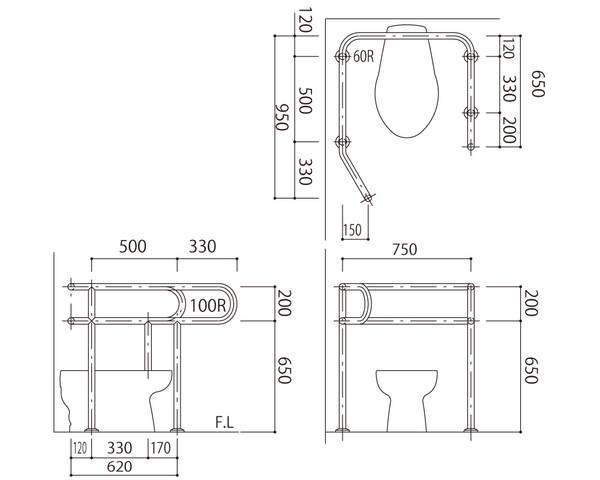 気質アップ バリアフリー手摺 洋式トイレ用標準取付タイプ(B・D・G)38mm 左勝手 SK-152S【神栄ホームクリエイト 左勝手】, 京都きものづくり:03d6e086 --- ceremonialdovesoftidewater.com