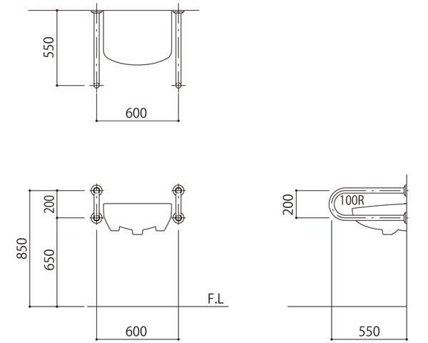 格安販売中 SK-250S【神栄ホームクリエイト】:暮らしの百貨店 バリアフリー手摺 洗面・手洗器用標準取付タイプ(B・D・G)-DIY・工具