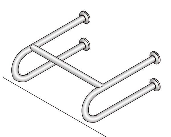 バリアフリー手摺 洗面・手洗器用標準取付タイプ(B・D・G) SK-257S【神栄ホームクリエイト】