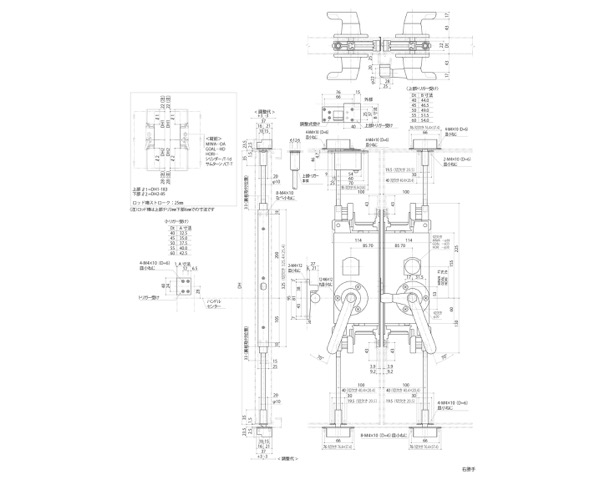 GMS-1310C(F) グレモン締リ装置 〈本体着脱方式〉【中西産業】