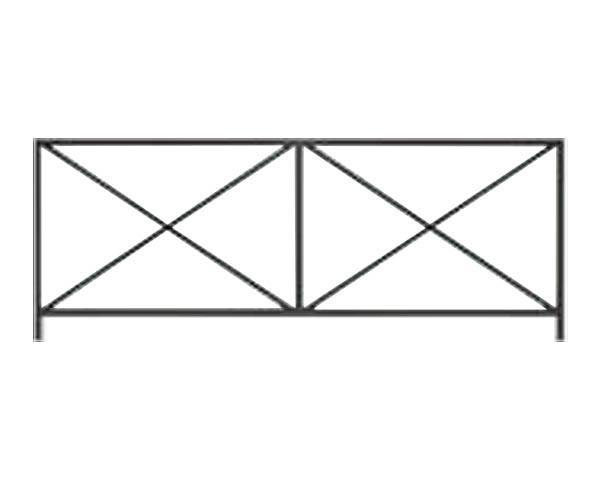 【エキスポール】ランドポール横断防止柵 LP-2091G-2-DGY P2000【ユニオン】