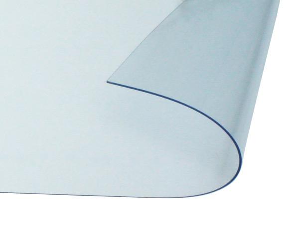 オーダーメイド 屋内向け 防炎、制電 ビニールカーテン 0.3mm厚 製作幅5,410mm~7,200mm内 製作高さ1,000mm内 透明 糸なし HE-030B-04 日中製作所