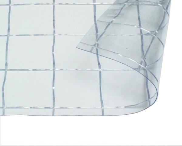 オーダーメイド 屋内向け 耐候 ビニールカーテン 0.3mm厚 製作幅8,010mm~10,000mm内 製作高さ3,000mm内 透明 糸入り HE-5530W-15 日中製作所