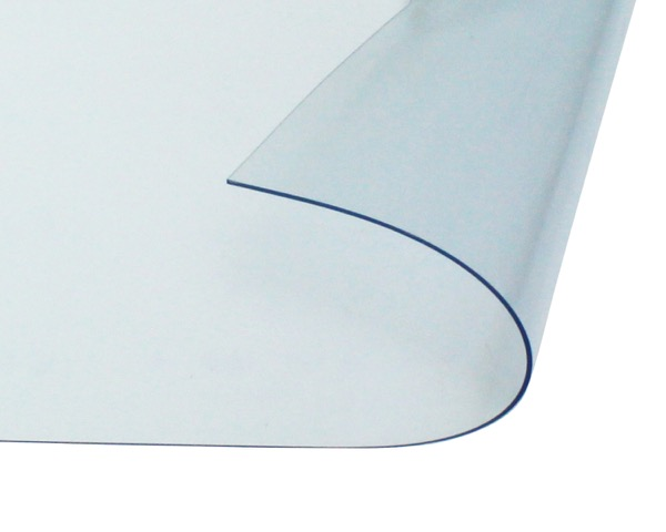 オーダーメイド 屋外、屋内兼用 防炎、制電 ビニールカーテン 0.5mm厚 製作幅5,410mm~7,200mm内 製作高さ1,000mm内 透明 糸なし HE-050B-04 日中製作所
