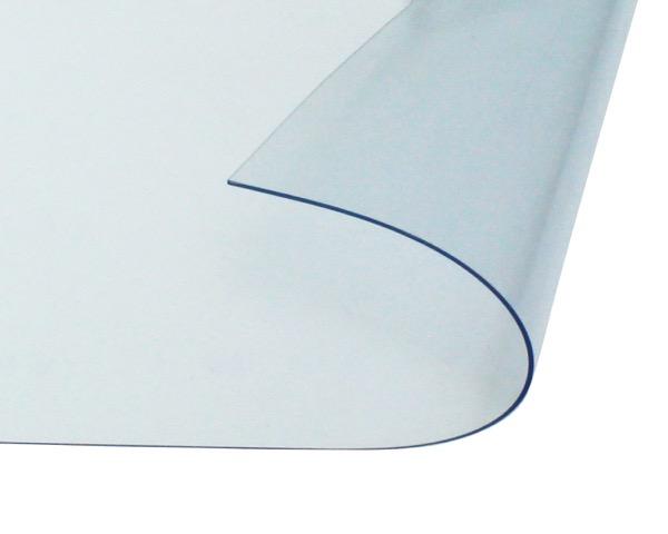 オーダーメイド 屋外、屋内兼用 防炎、制電 ビニールカーテン 0.5mm厚 製作幅1,810mm~3,600mm内 製作高さ2,000mm内 透明 糸なし HE-050B-07 日中製作所
