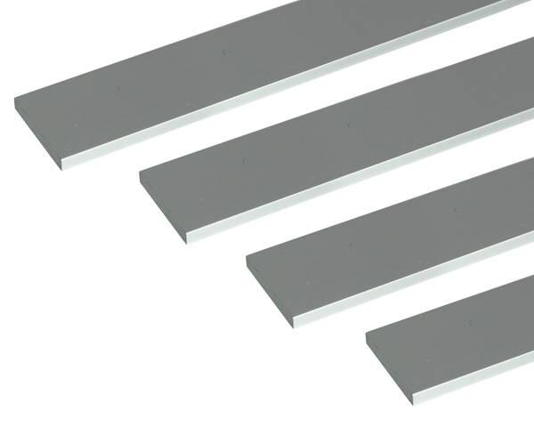 アルミ平棒 1m 6.0×50mm シルバー 4本組【安田(株)・アシバネ】