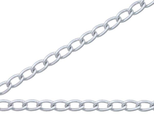 銀色 アルミカラーチェン 30m AM25