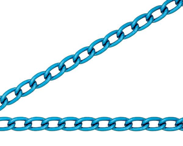 青色 アルミカラーチェン 30m AM22
