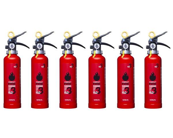 蓄圧式ABC粉末消火器 3型 6本セット