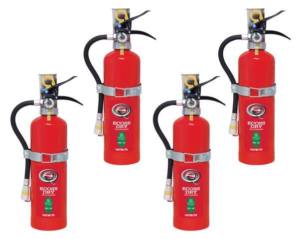 蓄圧式ABC粉末消火器 自動車用 4型×4本