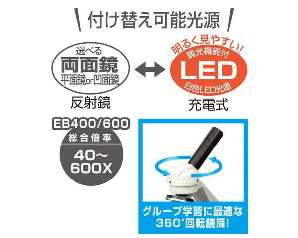 9887 生物顕微鏡EB400/600(メカニカルステージ・木箱