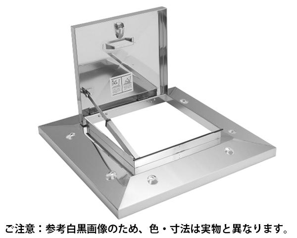 ラクラクハッチ ロック付多段 500mm 穴無・BK付 ステン【サヌキ】