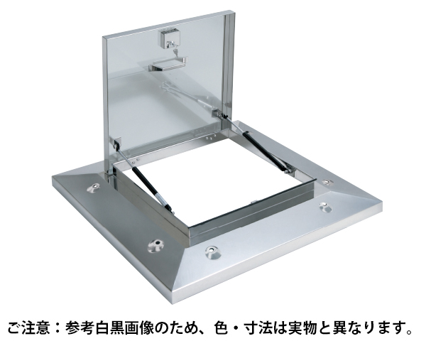 鍵付ラクラクハッチ 3段式 500mm 穴付・BK無 ステン【サヌキ】