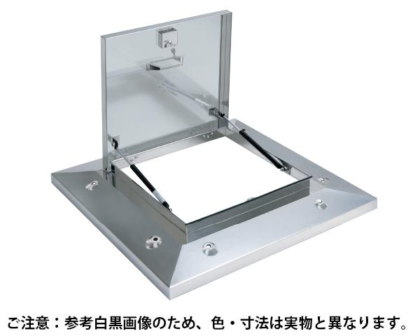 鍵付ラクラクハッチ 3段式 500mm 穴無・BK付 ステン【サヌキ】