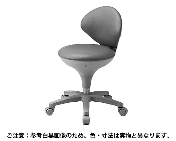WS021-VPI ワーキングスツール 背付 ビニールレザー ピンク【東洋工芸】
