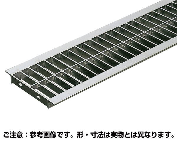 U字溝用溝幅300mm 標準並目溝蓋ステンレスグレーチング 内幅290×長さ994×高さ25ミリ【奥岡製作所】