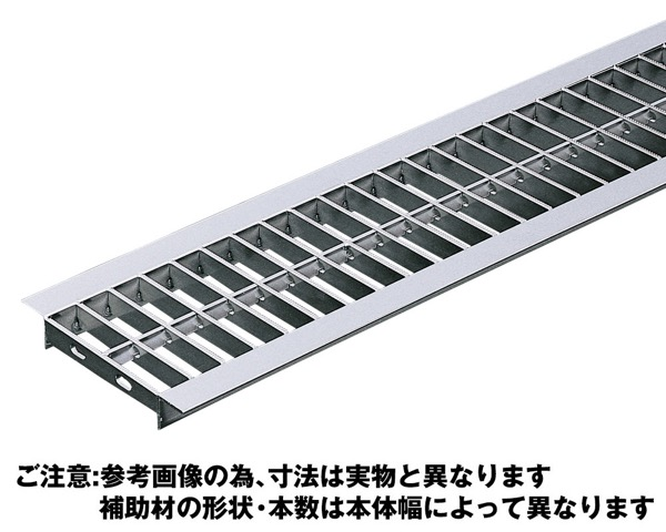 OSU4-NS 20-24Aステンレス製U字溝用グレーチング並目プレーンタイプ【奥岡製作所】