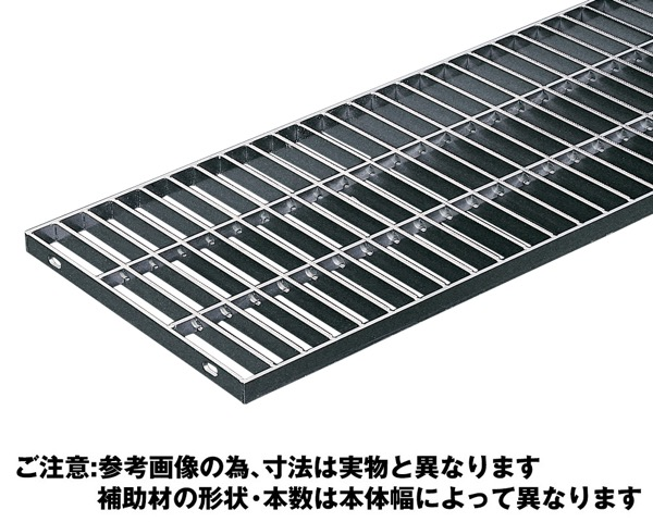 OSG4-NS 15-25Aステンレス製横断・側溝用グレーチング並目ノンスリップ【奥岡製作所】