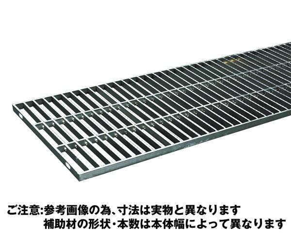 OSG4-NS 25-20Bステンレス製横断・側溝用グレーチング中間目ノンスリップ【奥岡製作所】