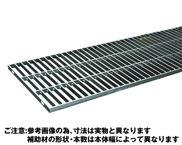 OSG4-NS 15-25Bステンレス製横断・側溝用グレーチング中間目ノンスリップ【奥岡製作所】