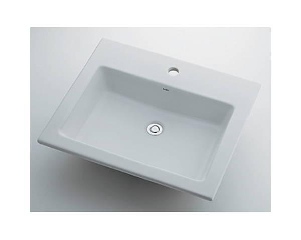角型洗面器1ホール 493-008【カクダイ】
