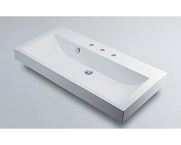 角型洗面器3ホール 493-071-1000【カクダイ】