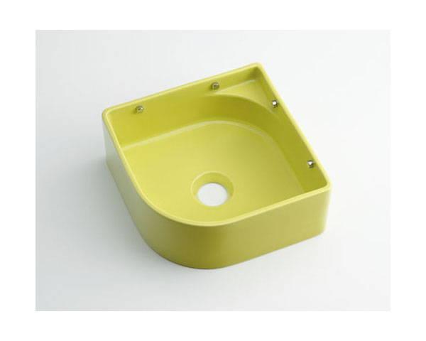 壁掛手洗器イエローグリーン 493-048-YG【カクダイ】