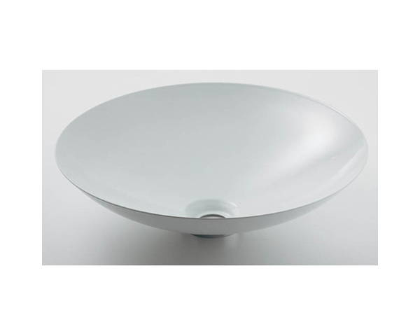 丸型洗面器ホワイト 493-045-W【カクダイ】