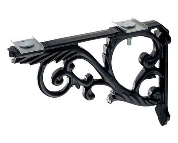 ブラケット鋳鉄、黒色塗装 250-005-D【カクダイ】
