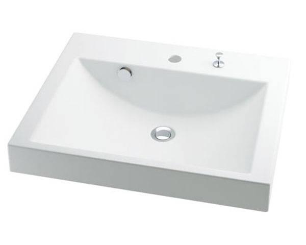 角型洗面器 493-072H【カクダイ】